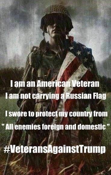 I am an American Veteran I swore to protect my Country