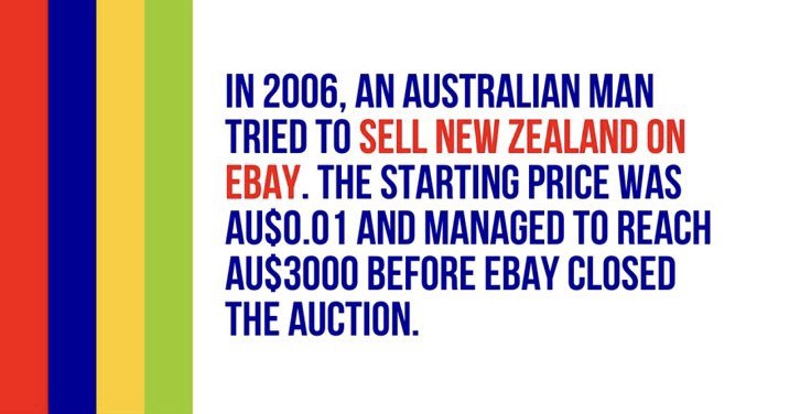 Fact In 2006 An Australian Man Sold New Zealand On Ebay By Bathroom Reader The Bathroom Reader Medium