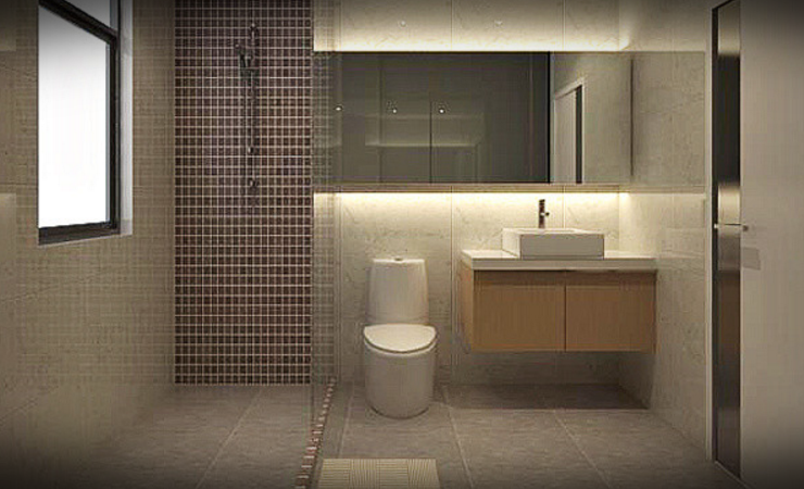 Modern Bathroom Designs For Small Spaces By Putra Sulung Medium,Engineering Product Design And Manufacture