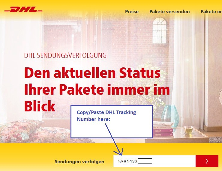 How to convert a German DHL Tracking No  to USPS - Adam J