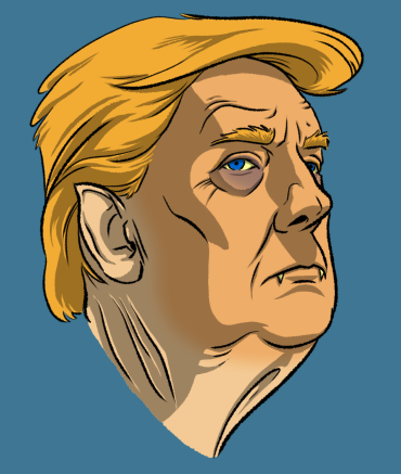 Trump Vampire Head from Undead Presidents NFT drop. Undead Presidents NFT drop Presale Starts October 25th