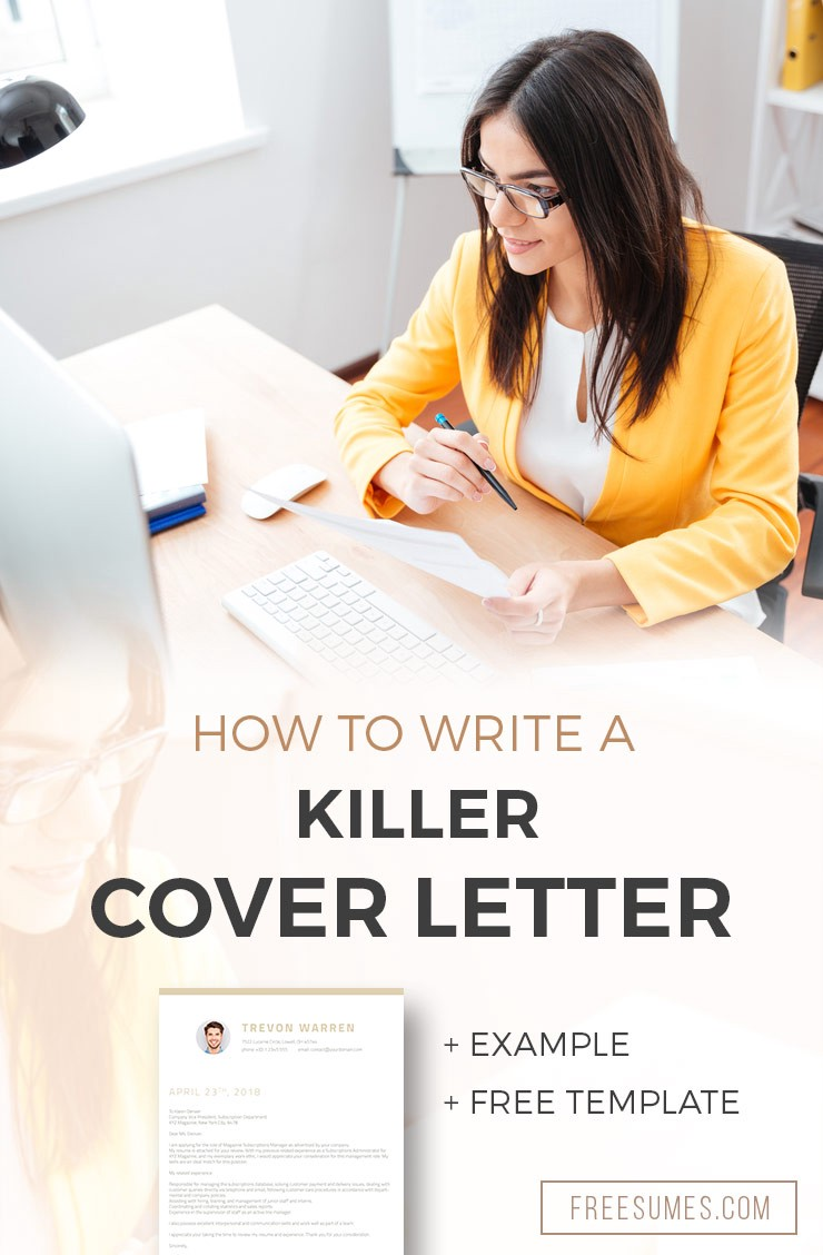How To Write A Killer Cover Letter Example Free Template By Freesumes Medium