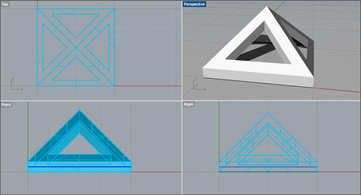 Create a Pyramid Stud in Rhino 3D — Part 1/2 - Drawing Post
