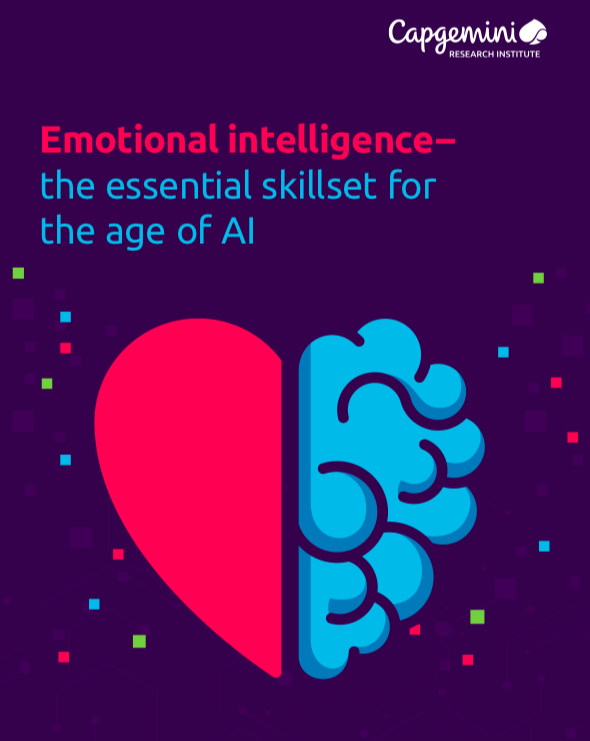 Cover of the Capgemini report on Emotional Intelligence—the essential skillset for the age of AI.