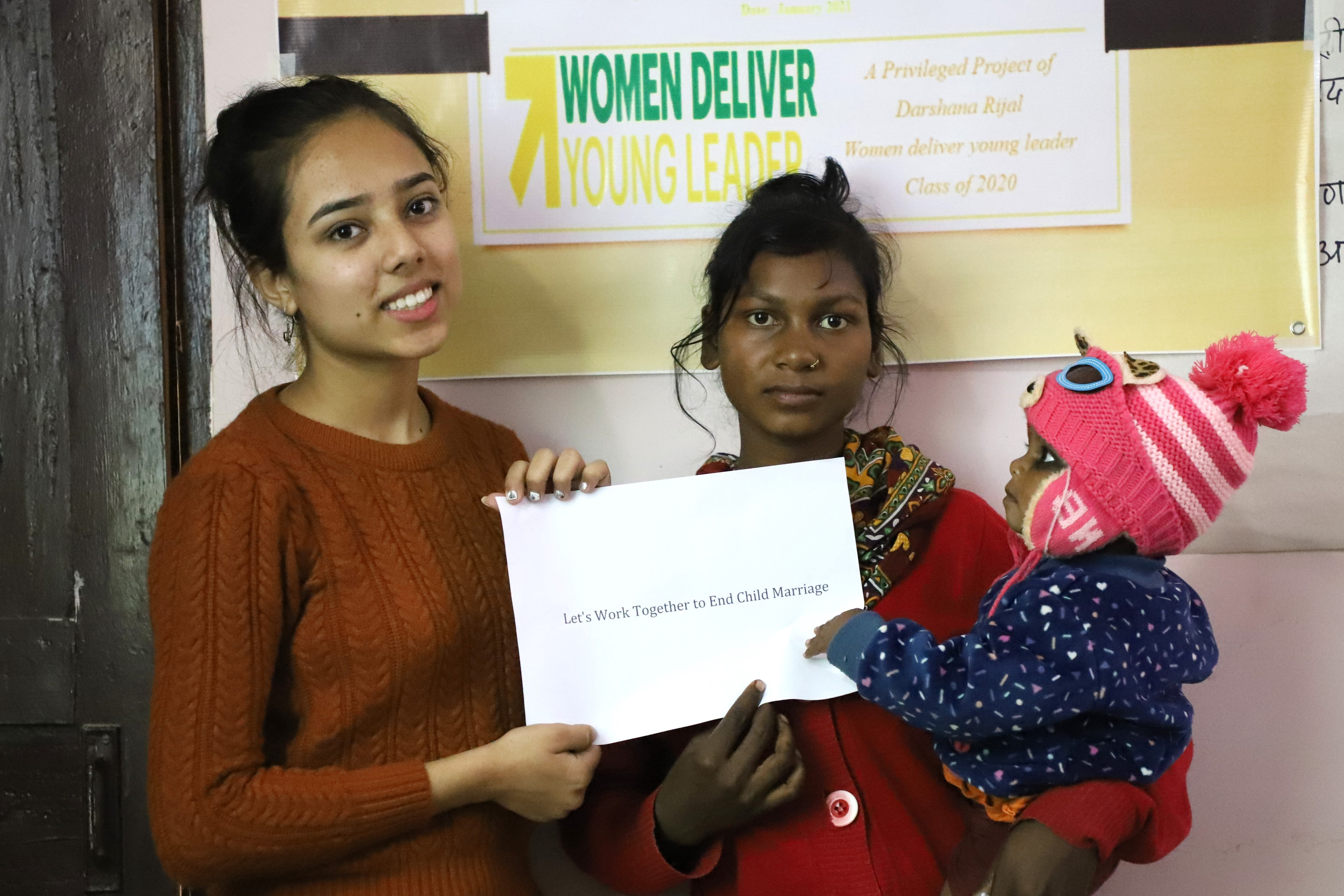 Darshana Rijal calling for an end to child marriage in Nepal.
