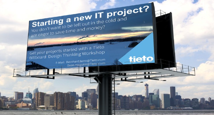 "How to run a ""Tieto Billboard Design Thinking Workshop"""