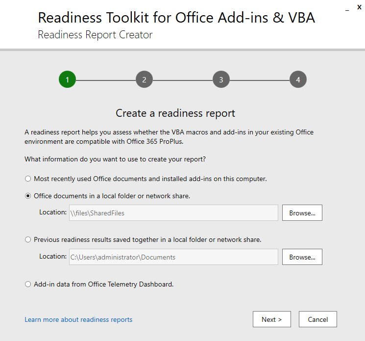 Using Office Readiness/Telemetry Tools To Plan Macro/Add-On
