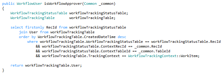 How to get user to whom workflow is assigned using X++ in