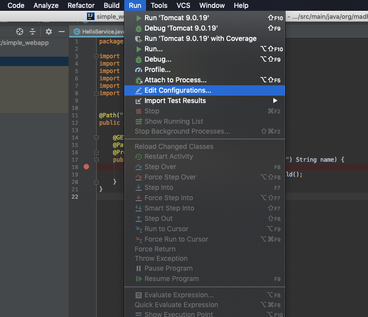 How to run/debug your web application with IntelliJ IDEA and