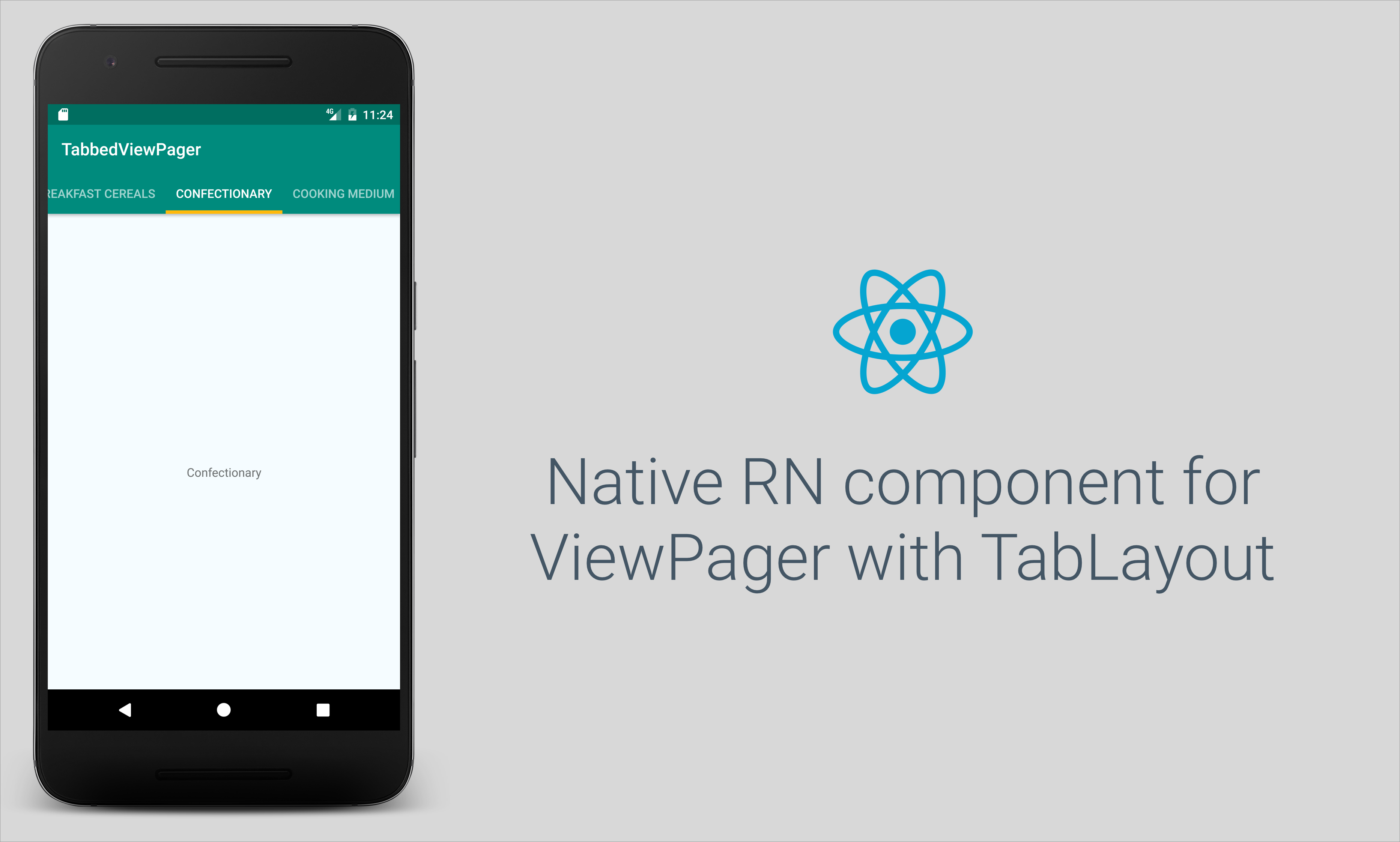React Native UI Component for ViewPager with TabLayout