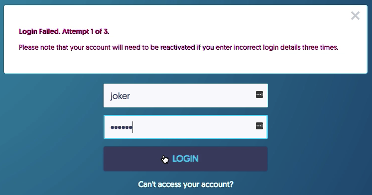 """How I bypassed the """"maximum three incorrect login"""" policy?"""