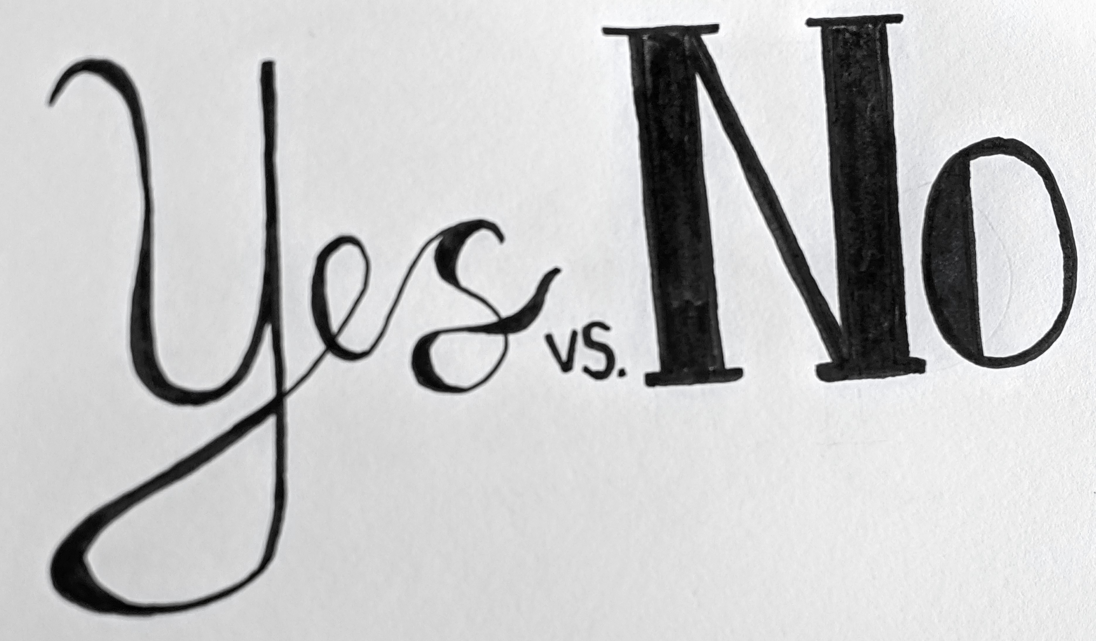 """Words that say """"Yes vs. No"""""""