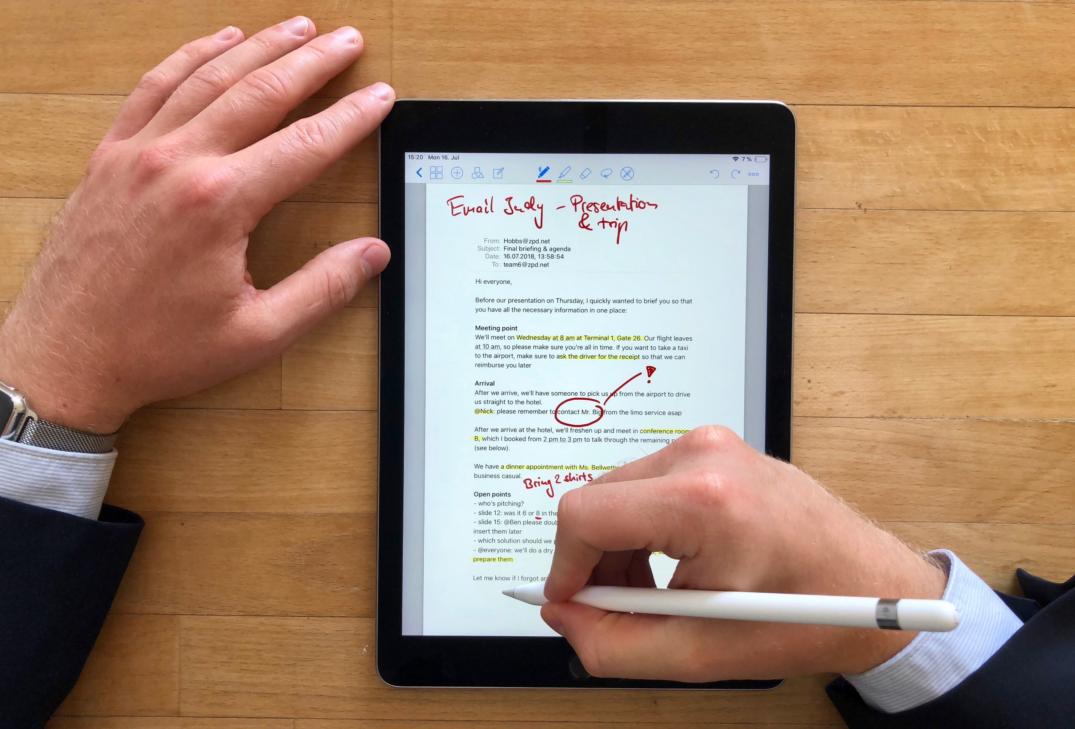 How to markup an email with the Apple Pencil - GoodNotes Blog
