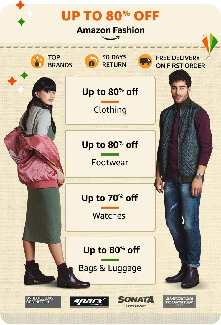 Amazon Great Indian Sale 2020 Offers Upto 80 Off On Clothes