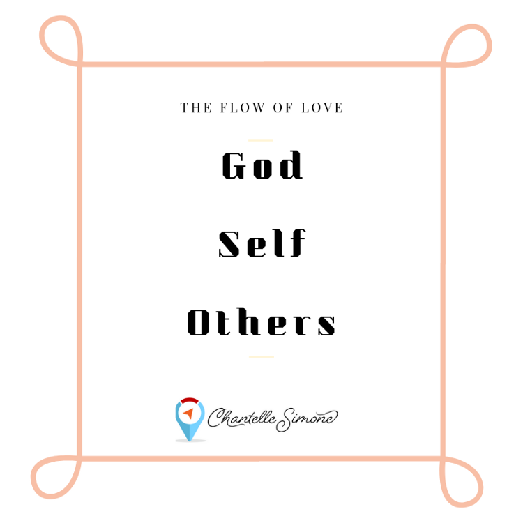 The flow of love is God to self and self to others. by Chantelle Simone
