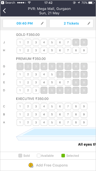 Entire Checkout Flow Of A Theatre Event Booking With Headout Pwa By Gui Ux Collective