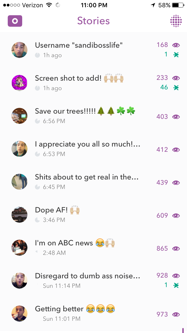 500 views on snapchat