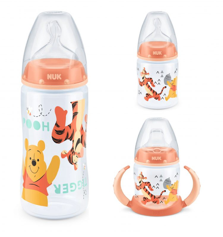 6-18 Months Baby Bottle Teat Silicone with Medium Feed Hole, NUK First Choice