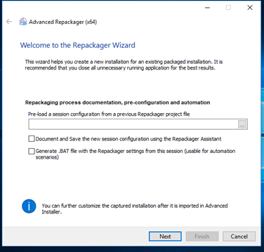 Repackaging a legacy setup with Advanced Installer - Nathan