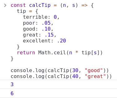 Javascript Tip Calculation Math Ceil Hash Table By Nick3499 Medium