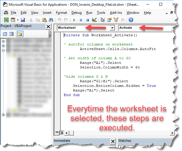 MS Excel — Reasons to Use VBA Event Code in Your Worksheets