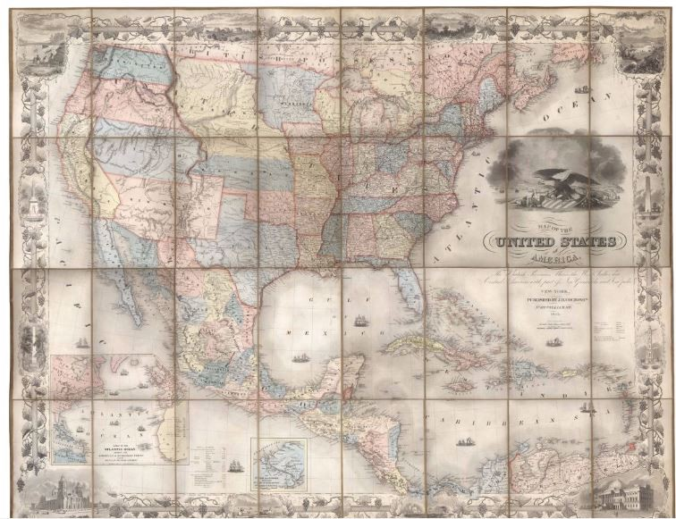 Map of the United States of America, the British Provinces ... United Provinces Of Central America Map on u s military history central america map, federation of central america map, colonial latin america map, us and mexico map, central america caribbean map, physical regions of the united states map, blank us physical geography map, anglicanism england united states spread map, anglican church population map,