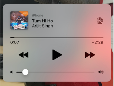 Showing Media Player System Controls on Notification Screen in iOS
