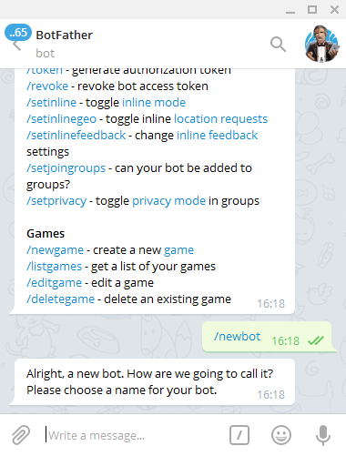 How To Create Your First Telegram Bot - Nicola Malizia - Medium