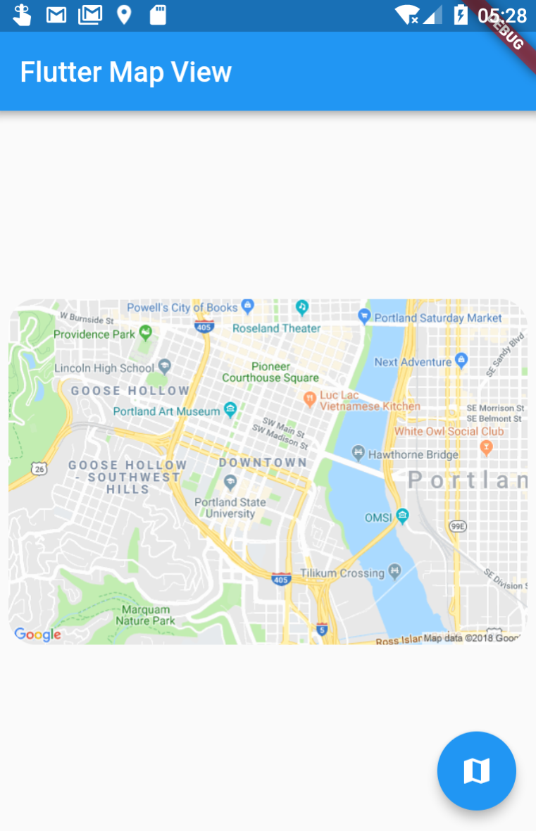 Flutter Map View with Geolocation (essence extracted)