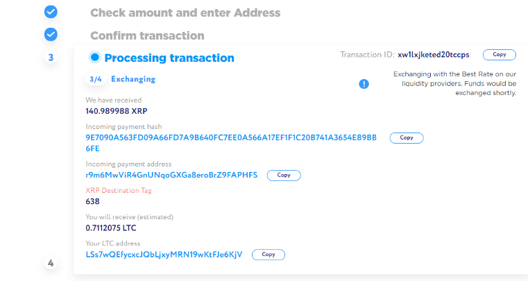 1*D8N2MDLhKVSx1ASLwXmPiA - How to exchange cryptocurrency on ChangeHero with Guarda wallet?
