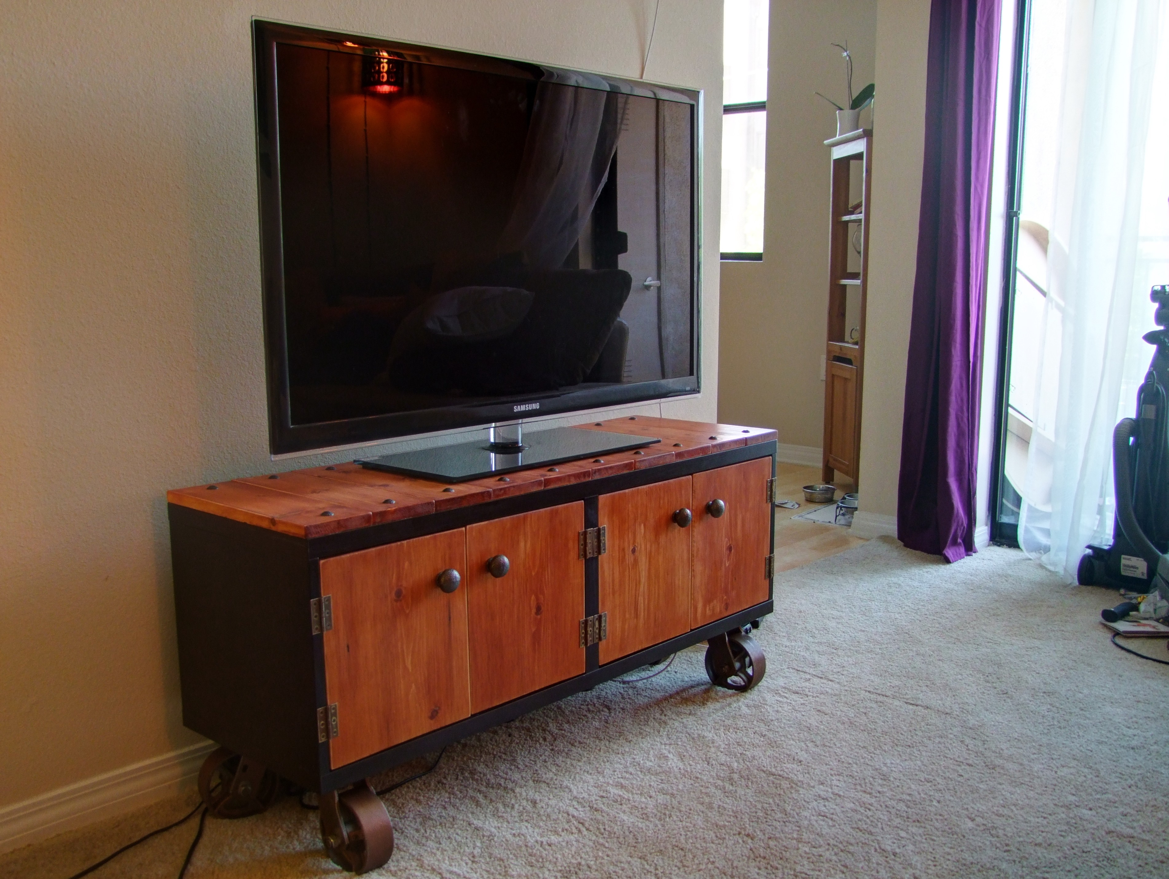 Diy Industrial Tv Stand Ikea Hack Step By Step Philippe