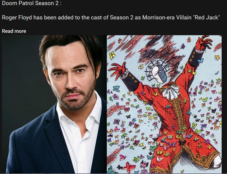 Roger Floyd Has Been Added To The Cast Of Season 2 As Morrison Era