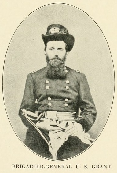 Union Brigadier General Ulysses S. Grant photographed at Cairo, Illinois. September 4, 1861.