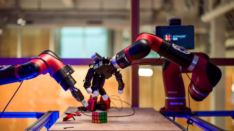 The AI-powered robot learned how to solve a Rubik's cube