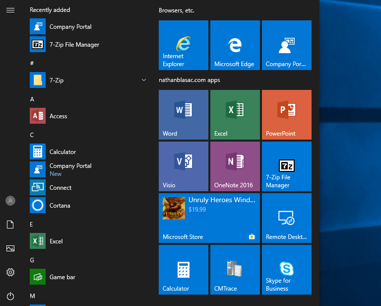 Updated Deploy A Custom Start And Taskbar Layout Configuration Policy With Partial Lockdown Via Intune Windows 10 1809 By Nathan Blasac Nathan Blasac Notes From The Field