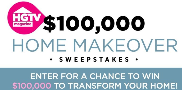 Win A Home Makeover 2020.Hgtv 100 000 Home Makeover Sweepstakes Enter To Win 100000
