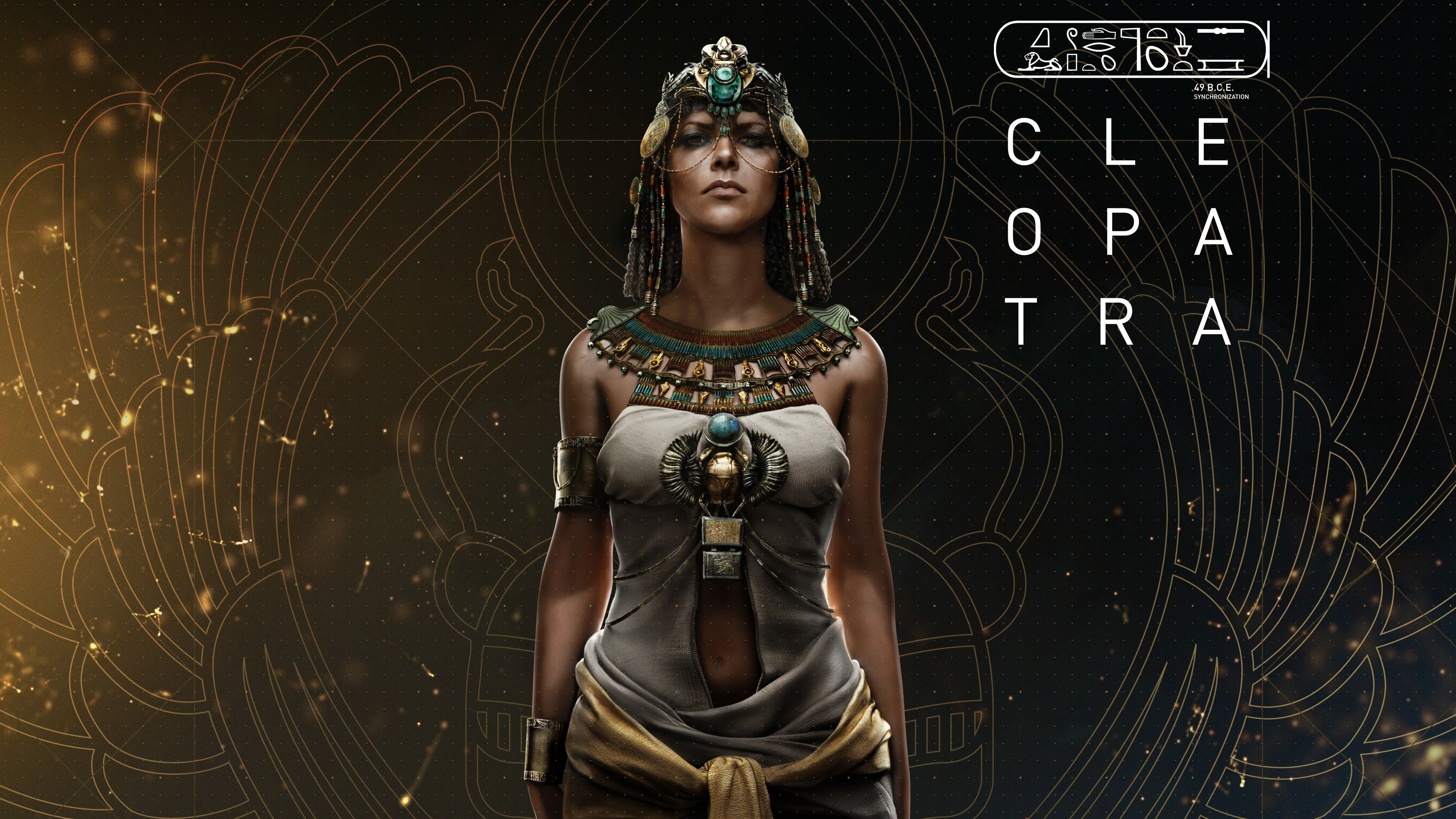 Cleopatra Assassins Creed Origins 4k Wallpaper By Jignesh Patani