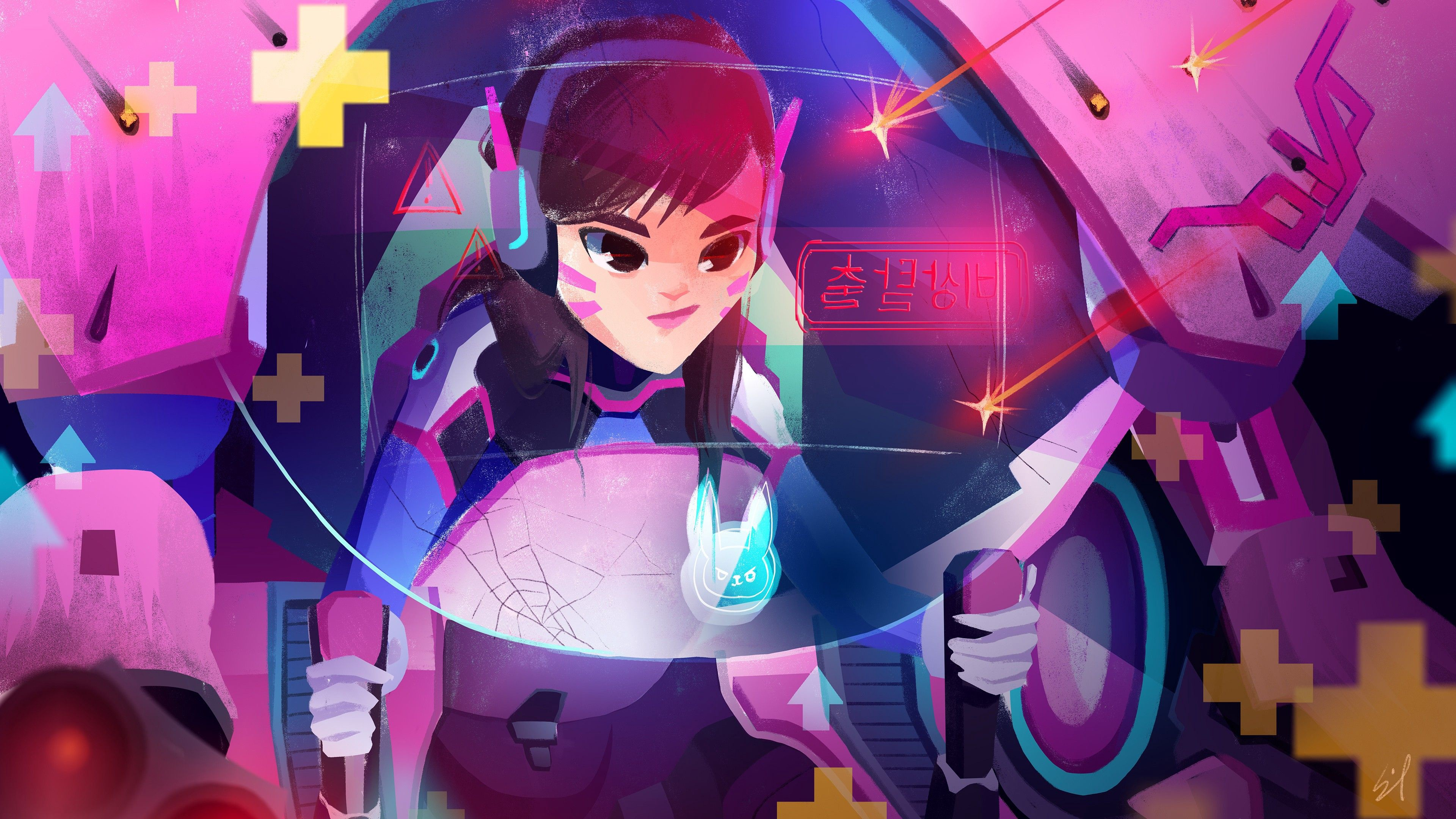 Dva Overwatch 4k Wallpaper Jignesh Patani Medium