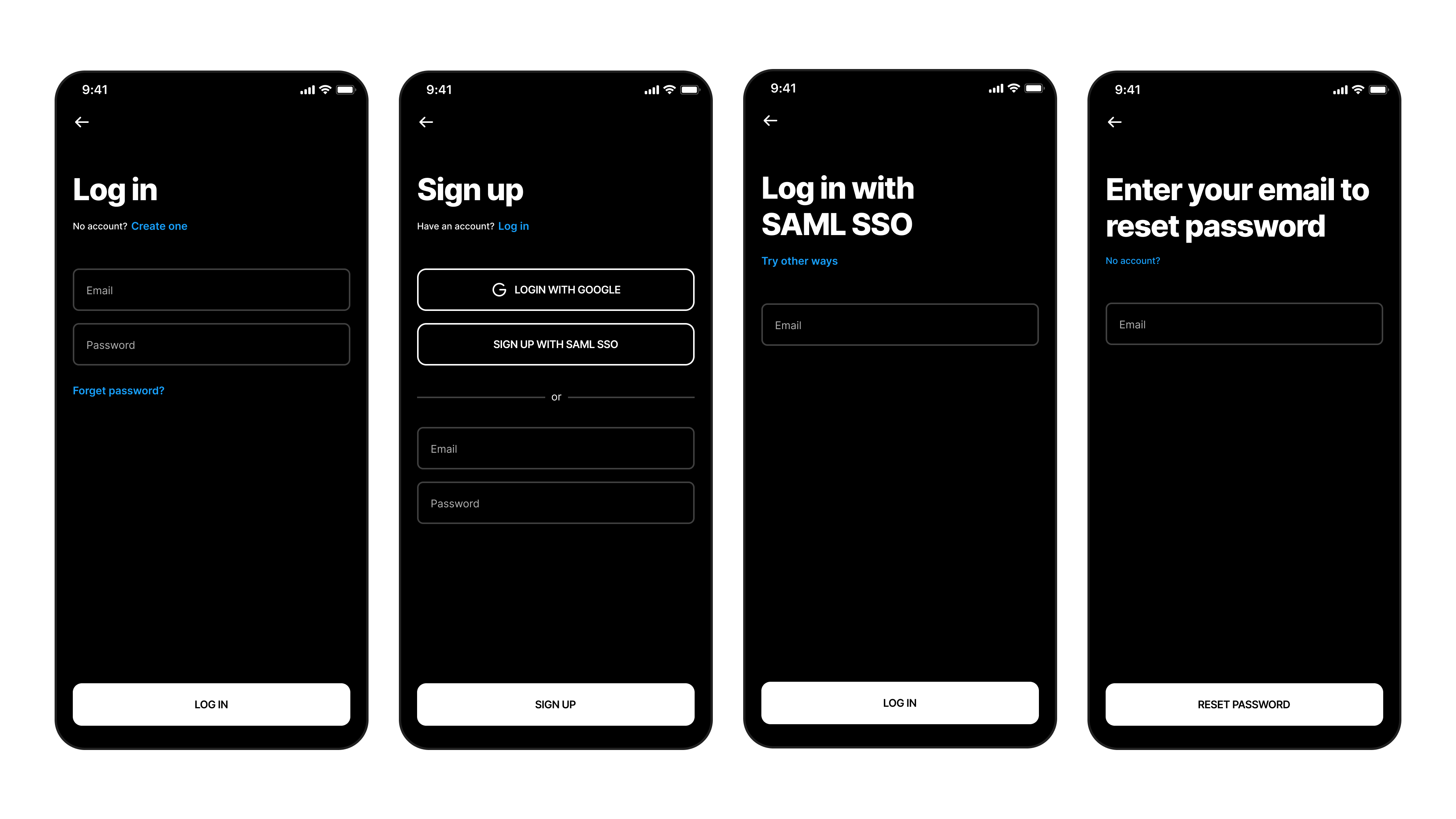Login and Sign up flows of Figma Mirror Redesign