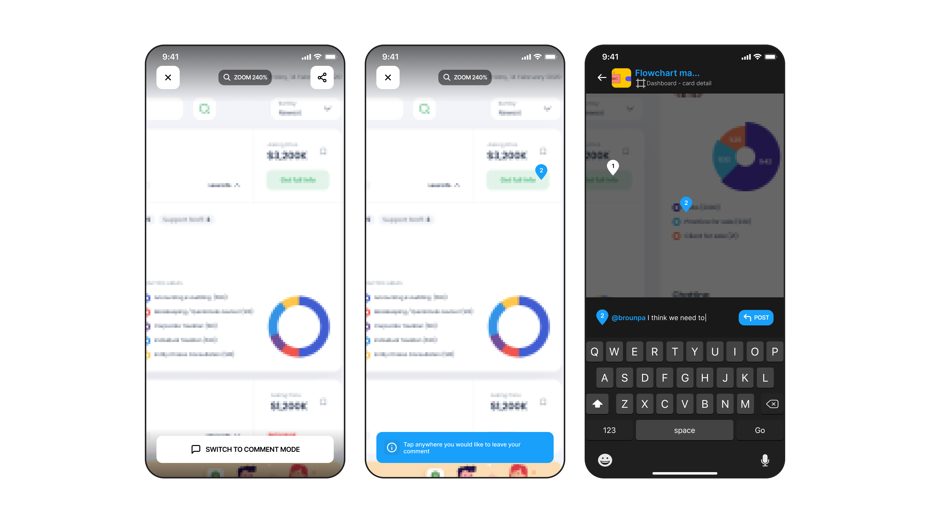 Comment Mode feature of Figma Mirror Redesign