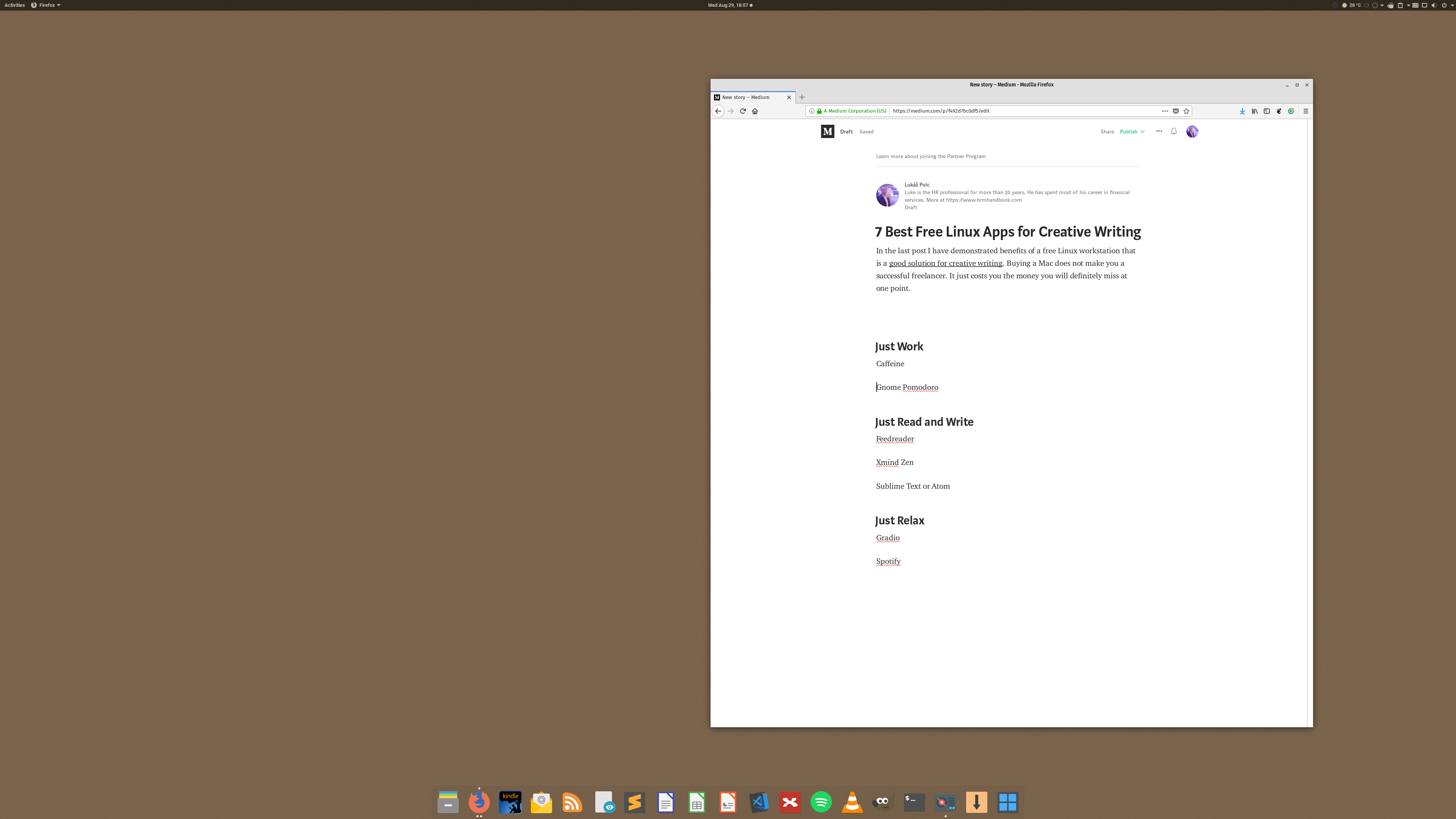 My 7 Best Free Linux Apps For Creative Writing By Lukas Polc Medium