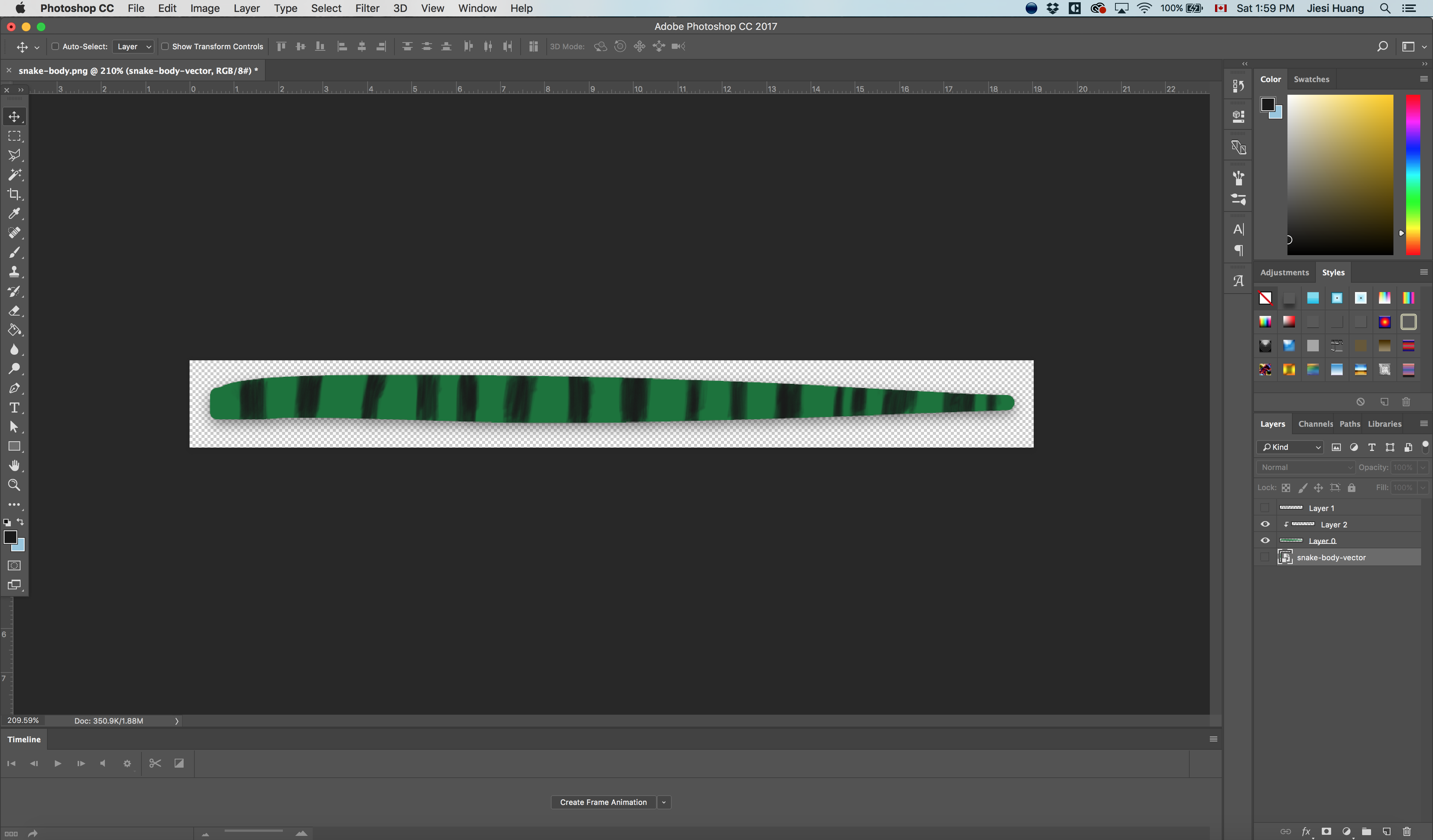 Snake Animation in After Effects using the Omino Snake plugin