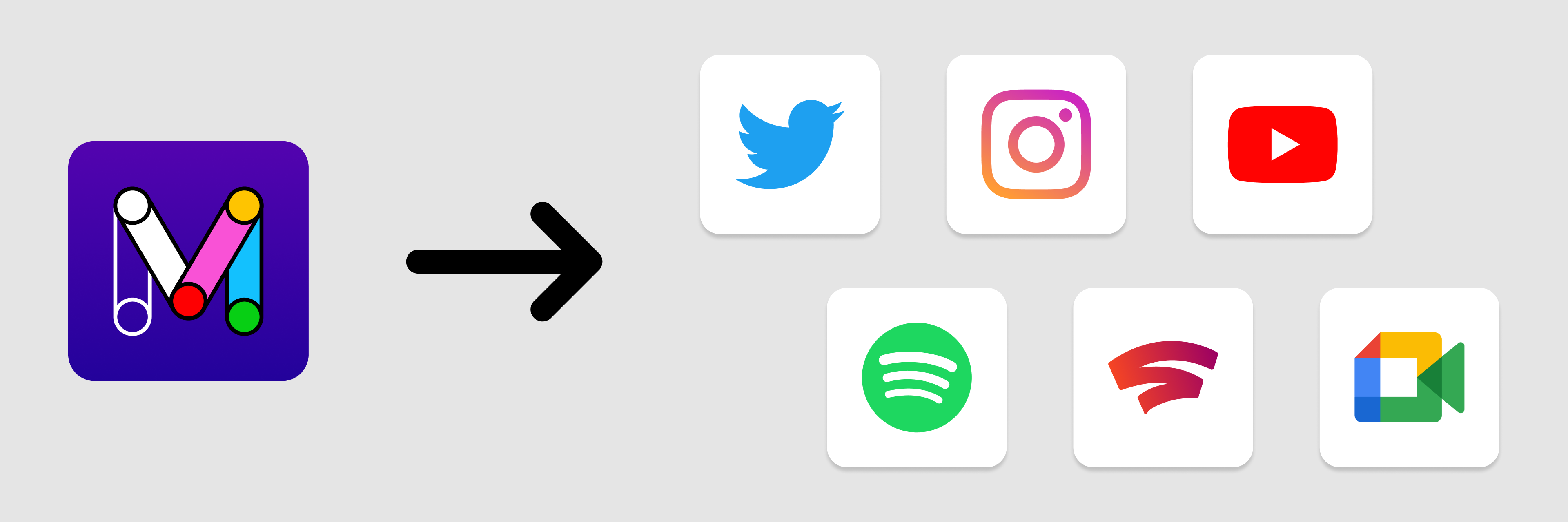 Icons for Mockitt and the apps I redesigned using it