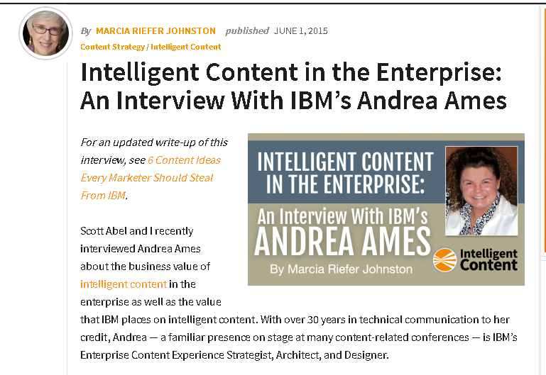 A Content Strategy Conversation — Marcia Riefer Johnston