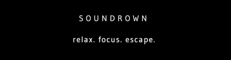 Sounddrown displays their logo with a simple animation while the app loads.