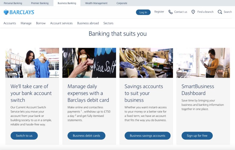 Though a little overused, a grey/white/blue color palette is very effective for financial sites because blue is most often associated with loyalty and trust in color psychology.