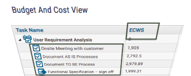 Estimated Cost of Work Scheduled at Task Level- KPIs for Project Manager