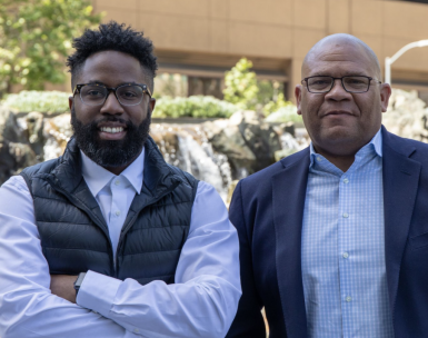 LISNR Co-Founder and CCO, Rodney Williams and CEO Eric Allen