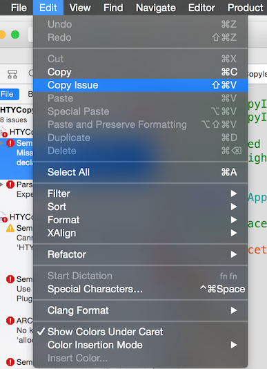 Adding Items to a Context Menu in an Xcode Plugin - Dan