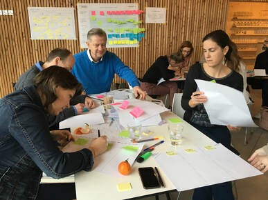 a picture of a design thinking workshop